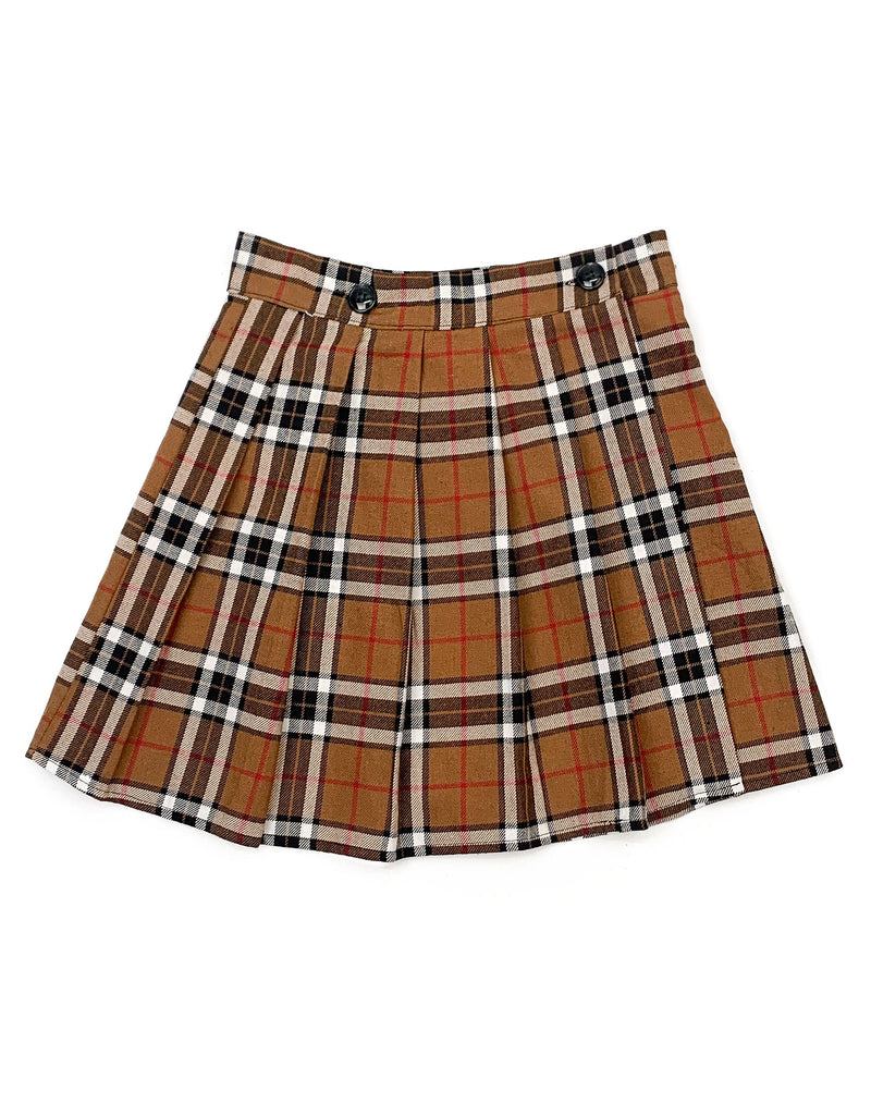 NOVA CHECK PLEATED MINI SKIRT
