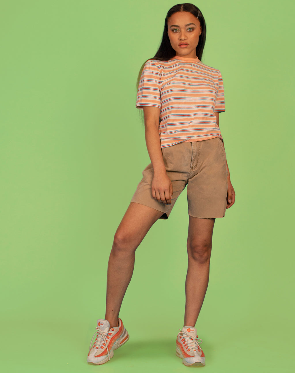 PEACHY STRIPE T-SHIRT