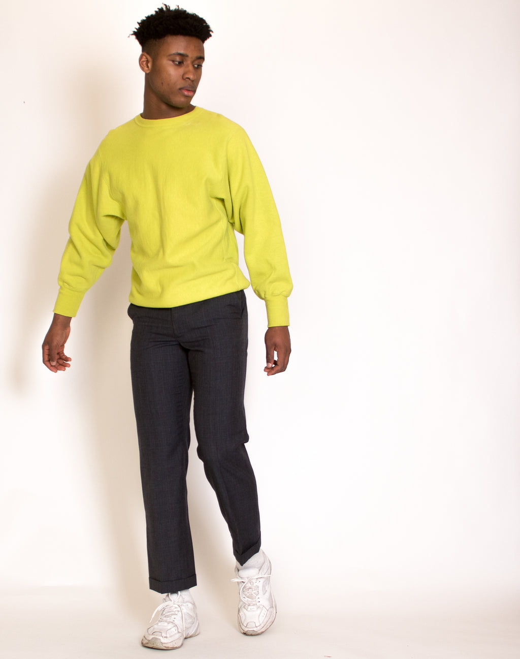 CHAMPION NEON GREEN SWEATSHIRT