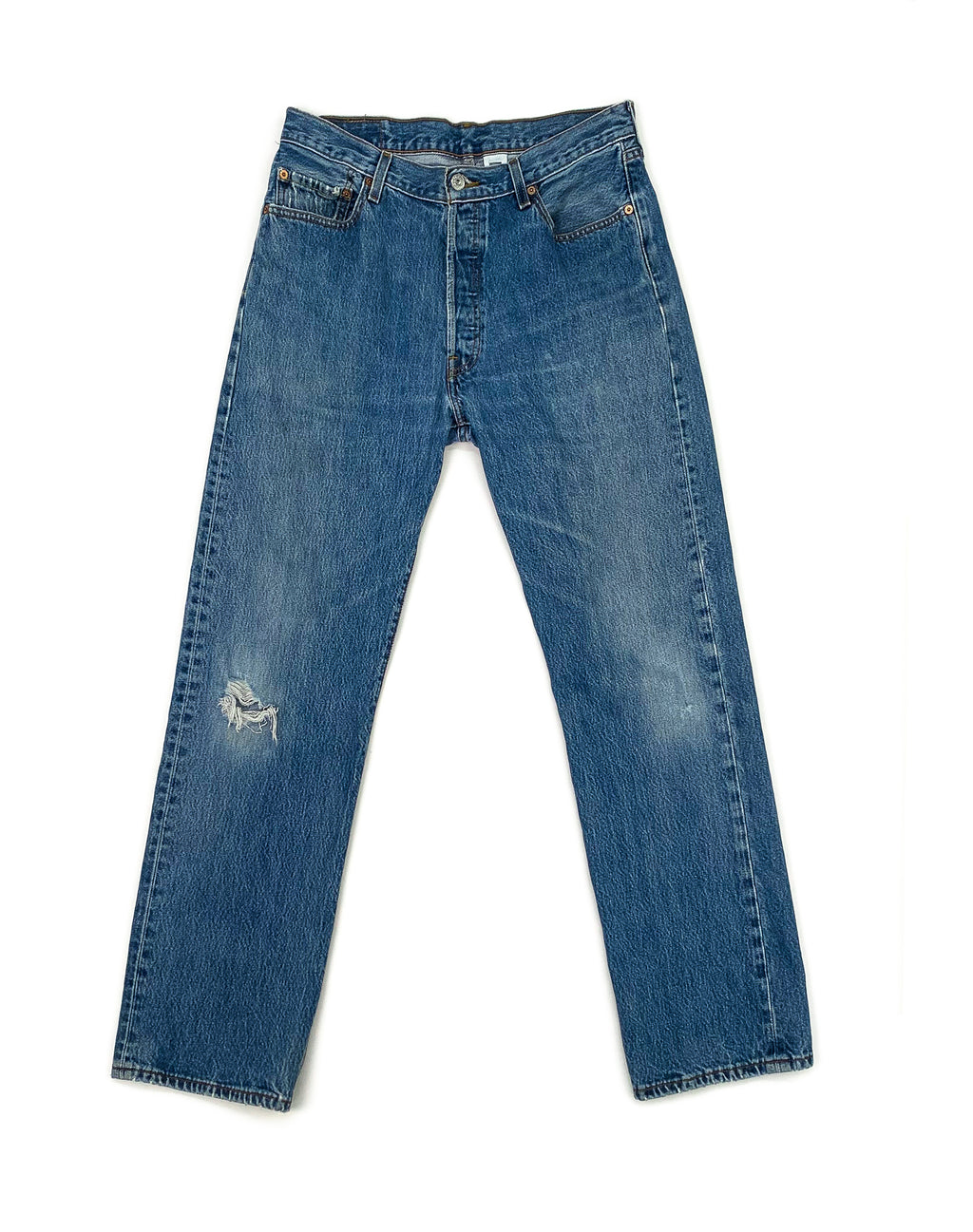 LEVI'S 501 LIGHT WASH DENIM JEANS
