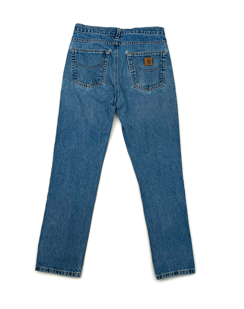 CARHARTT MID-BLUE DENIM JEANS