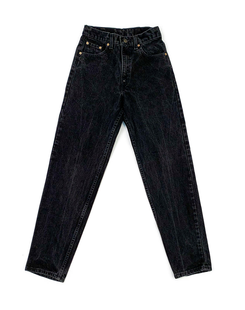 CARHARTT BLEACHED BLACK CARPENTER JEANS