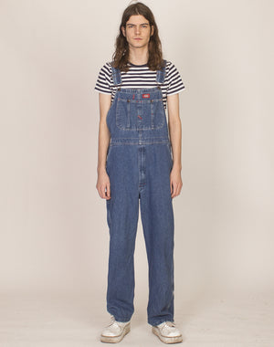 DICKIES MID-WASH DENIM DUNAGAREES