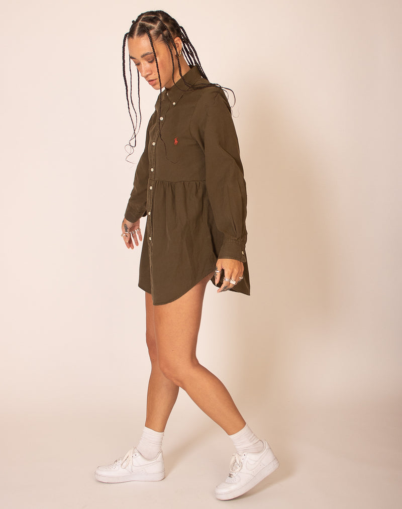 RALPH LAUREN KHAKI SMOCK DRESS