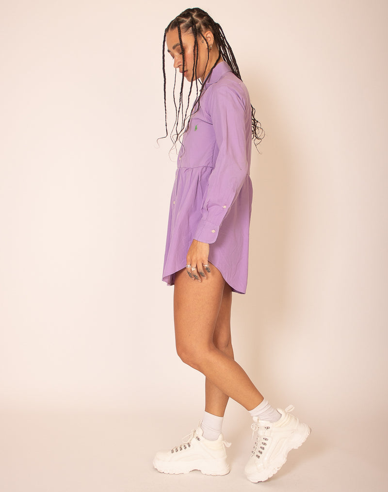 RALPH LAUREN LILAC ROXY SMOCK DRESS