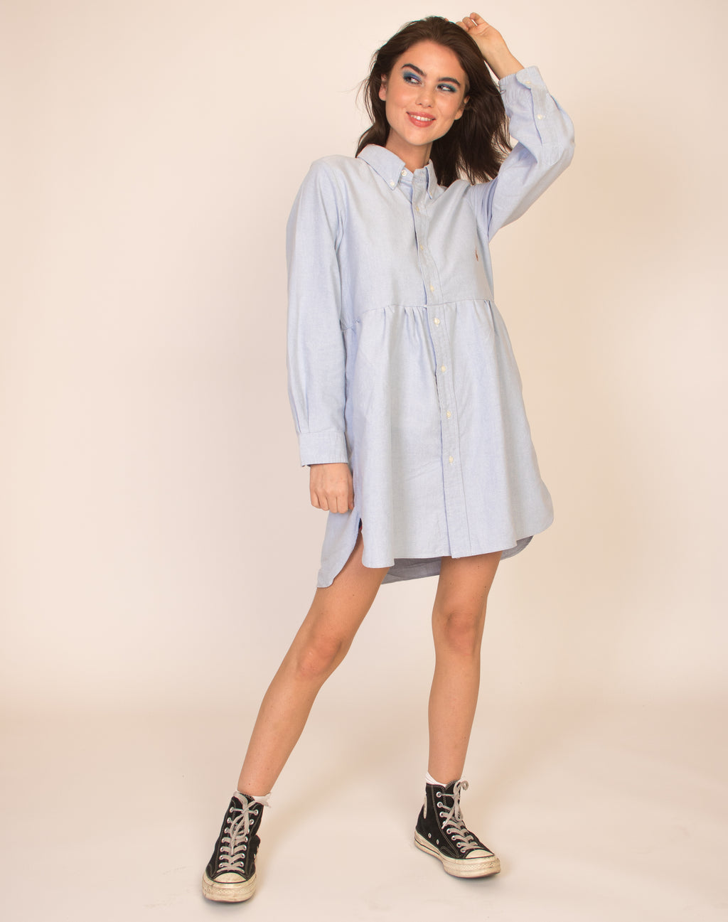 RALPH BLUE ROXY SMOCK DRESS