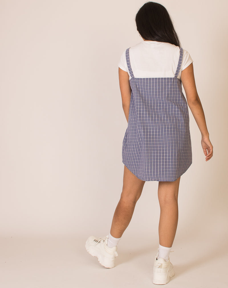 BLUE CHECK OLLIE DRESS
