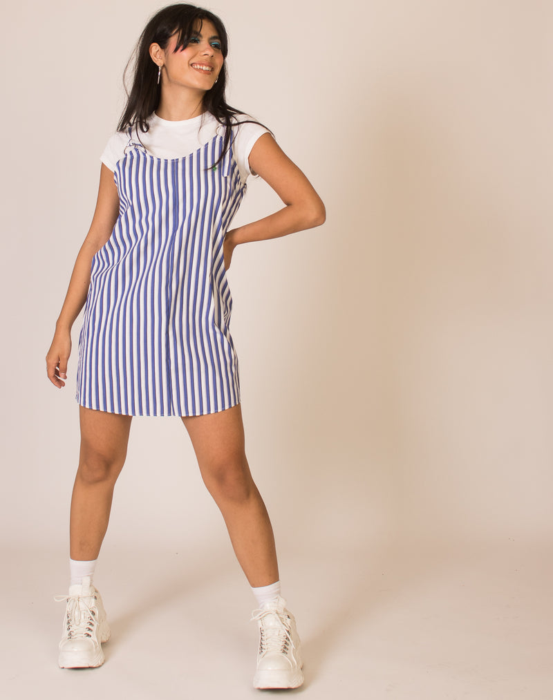 RALPH LAUREN BLUE STRIPE MAGGIE DRESS