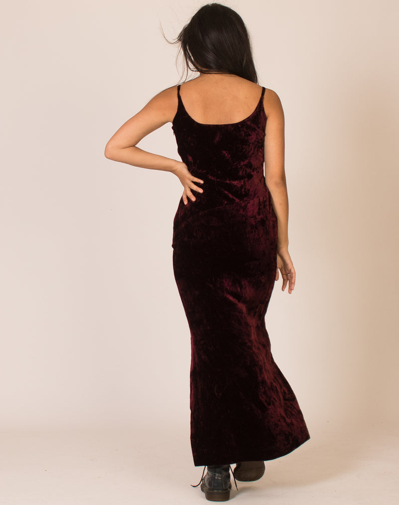 CALVIN KLEIN BURGUNDY MAXI DRESS