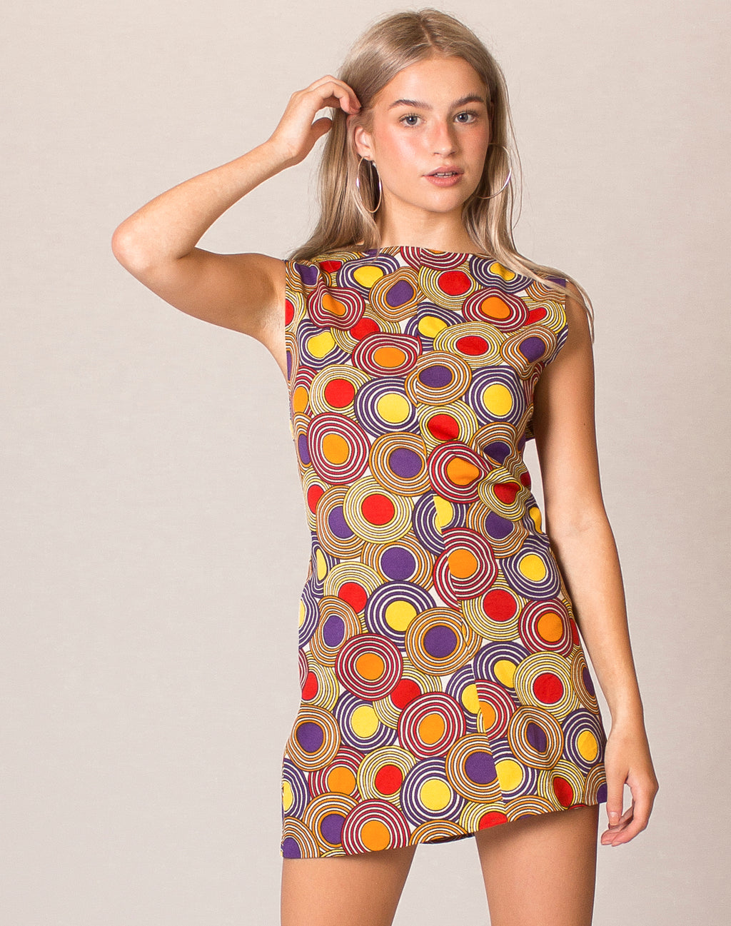 60s GRAPHIC MINI DRESS