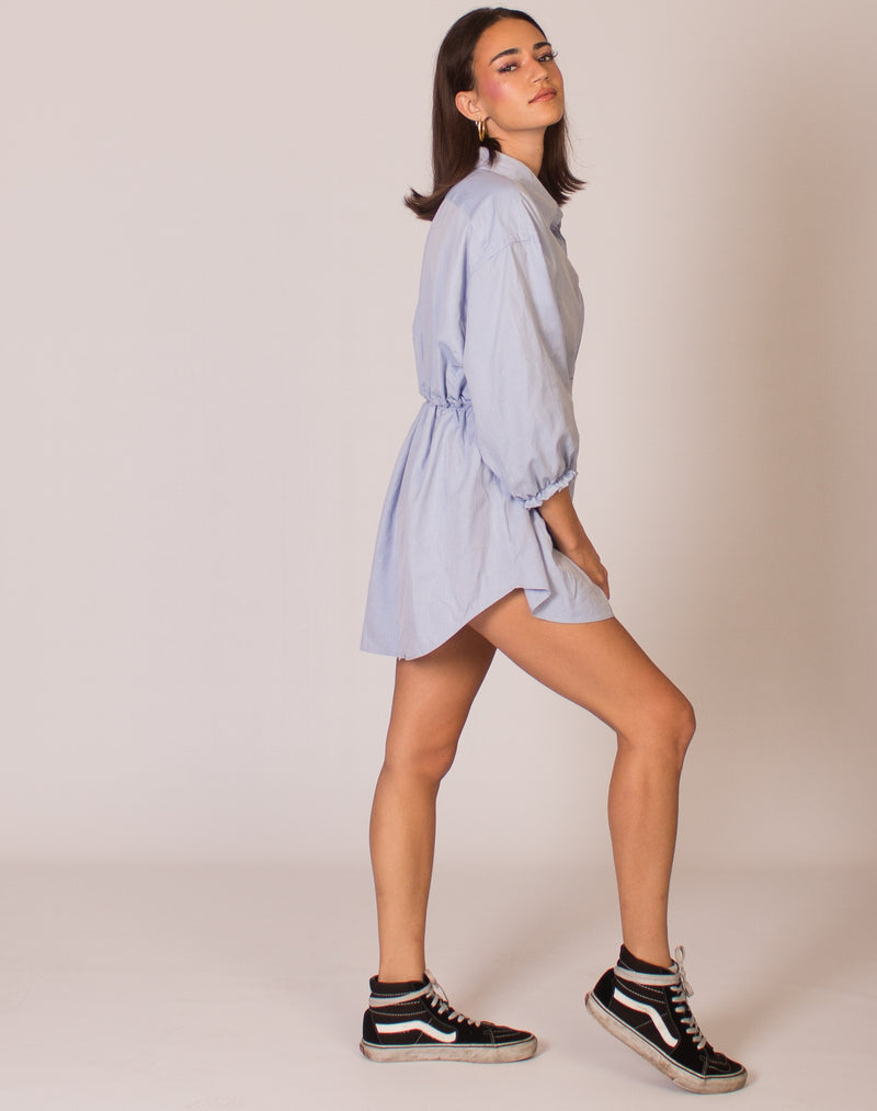 RALPH PALE BLUE HANNAH SMOCK DRESS