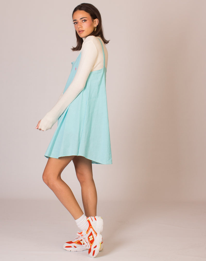 RALPH LAUREN BUBBLEGUM BLUE OLLIE DRESS