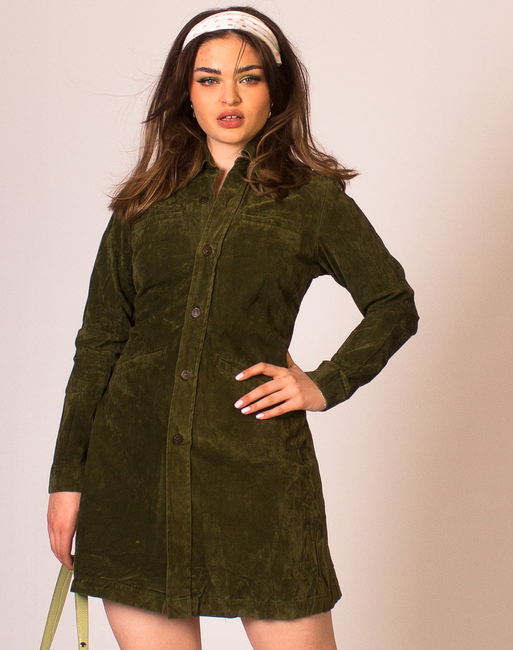 LEVIS OLIVE SUEDETTE DRESS