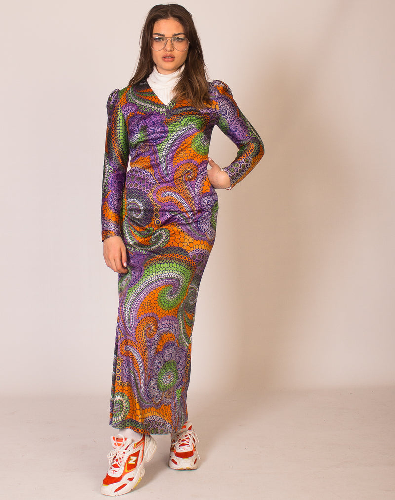 60's TWIGGY PRINT DRESS