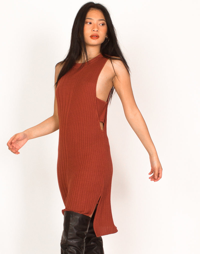 GUESS RUST CUT OUT DRESS