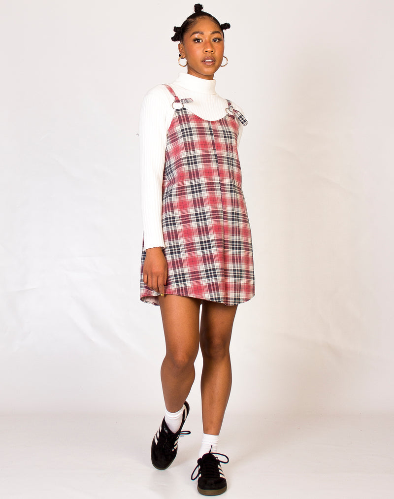 RED AND GREY PLAID MAGGIE DRESS