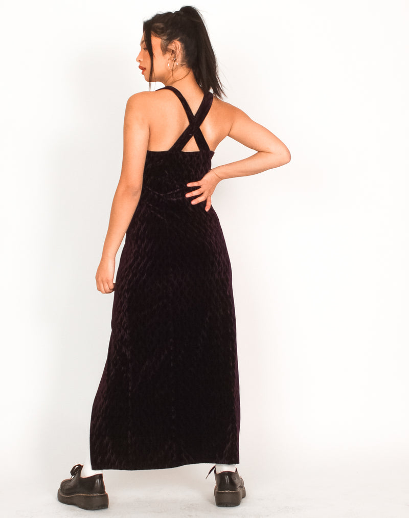 PURPLE VELVET MAXI DRESS