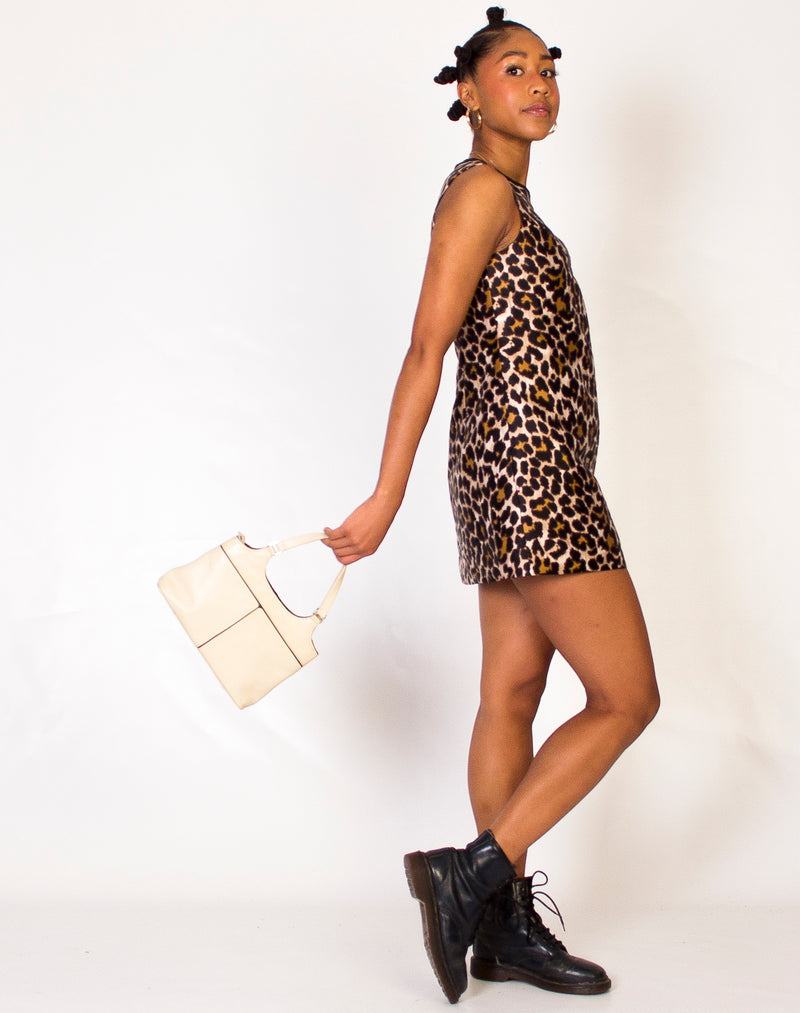 J. CREW A LINE LEOPARD MINI DRESS