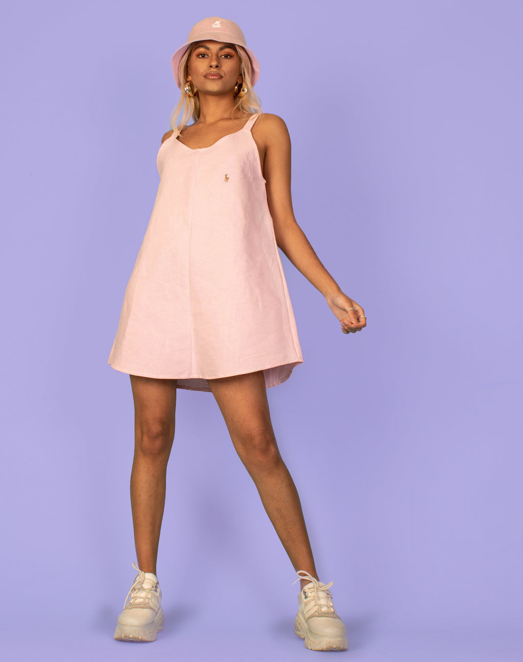 RALPH BABY PINK OLLIE SLIP DRESS