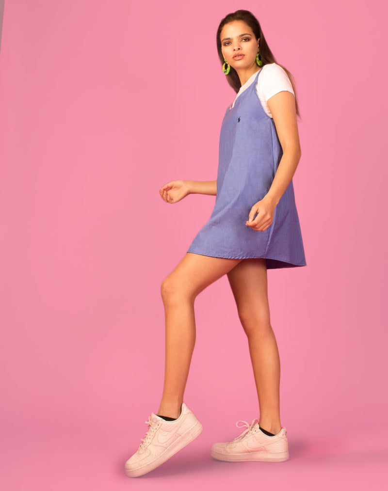 RALPH BLUE OLLIE SLIP DRESS