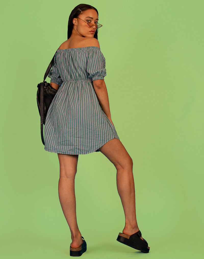 RALPH GREEN PINSTRIPE FRANCES DRESS