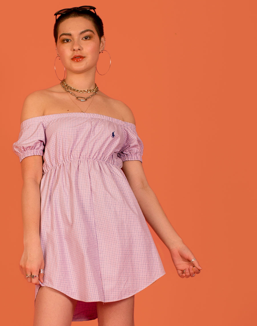 RALPH PINK CHECK FRANCES DRESS