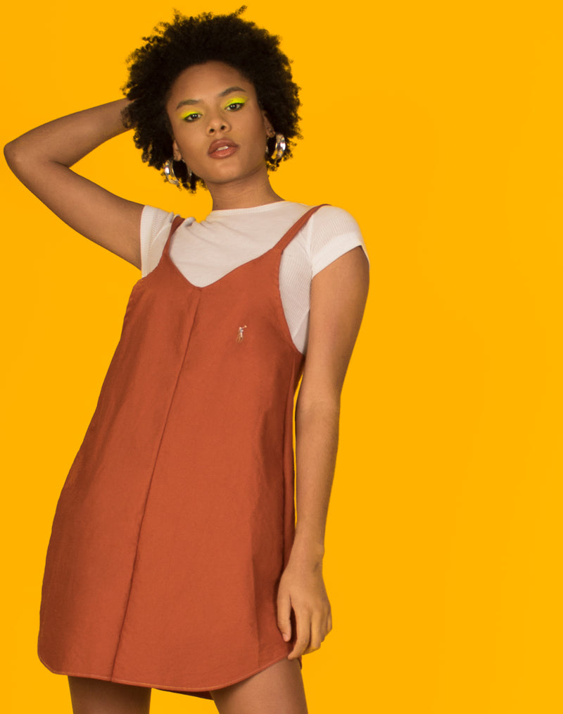 RALPH ORANGE OLLIE SLIP DRESS