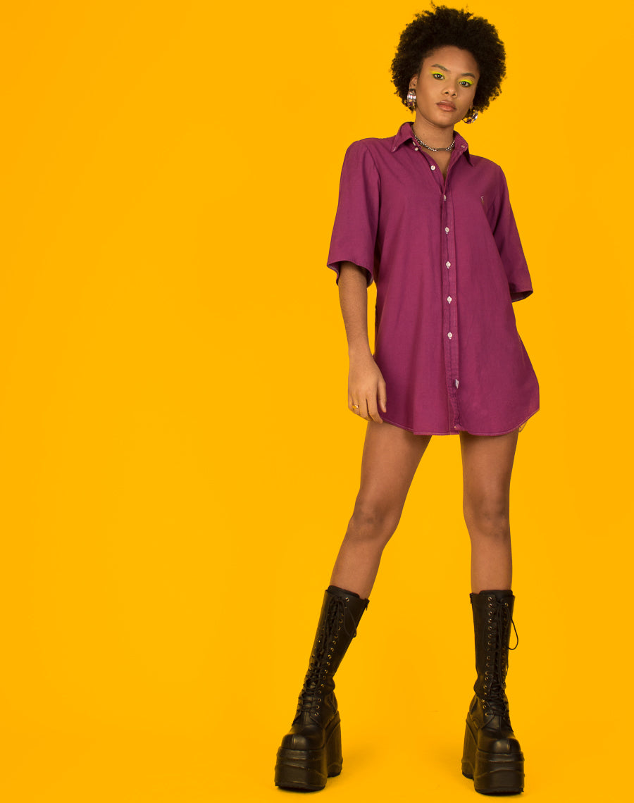 RALPH PURPLE SHIRT DRESS