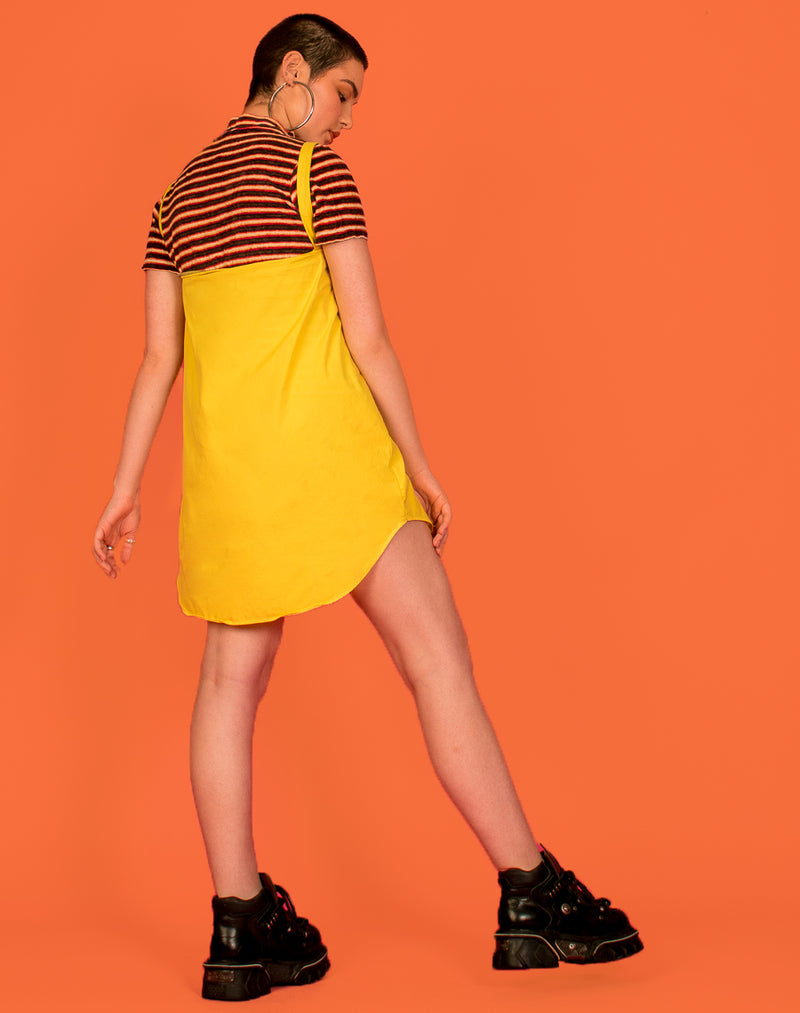 RALPH YELLOW OLLIE SLIP DRESS