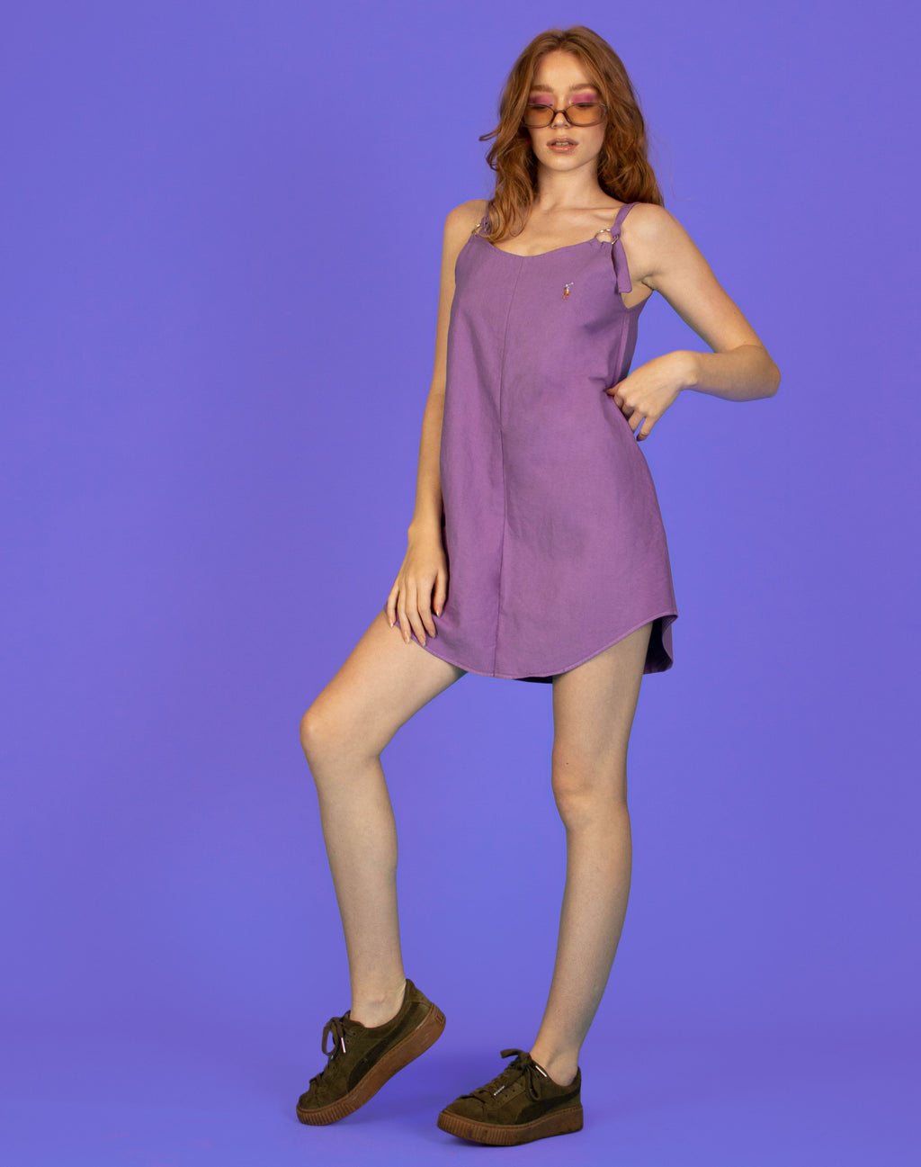 RALPH PURPLE MAGGIE SLIP DRESS