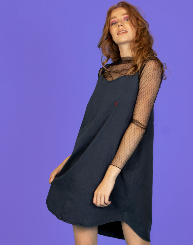 RALPH NAVY OLLIE SLIP DRESS