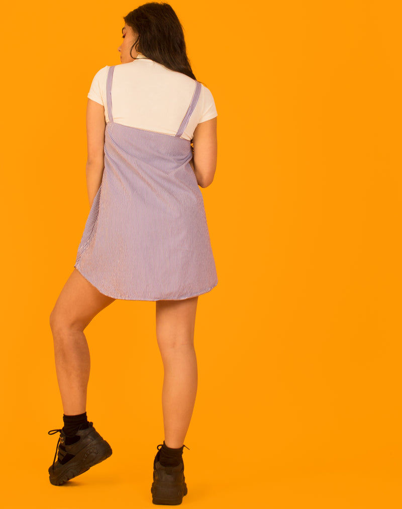 RALPH PURPLE STRIPE OLLIE SLIP DRESS