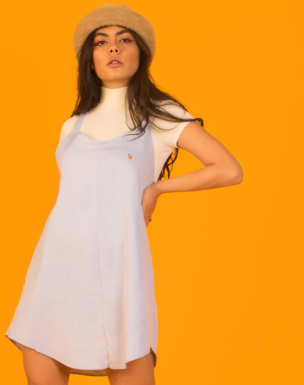 RALPH LIGHT BLUE OLLIE SLIP DRESS