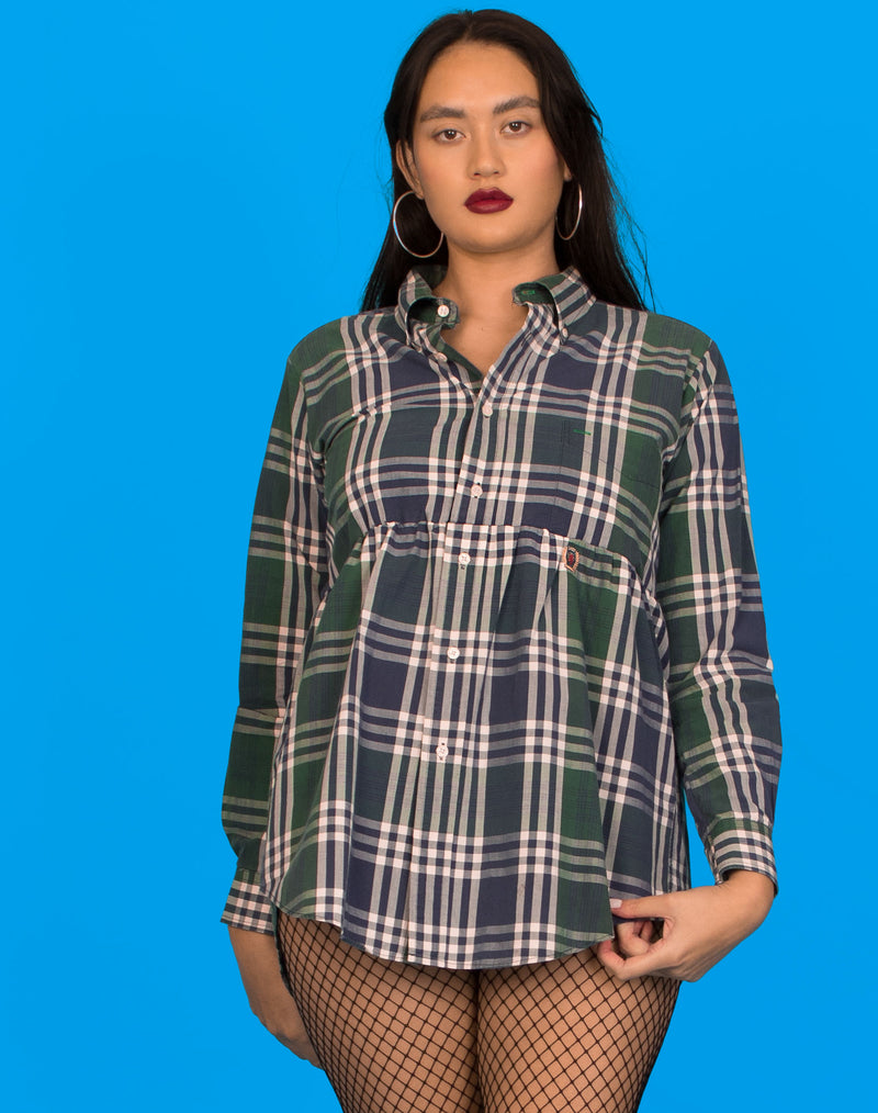 TOMMY HILFIGER CHECK ROXY SMOCK DRESS