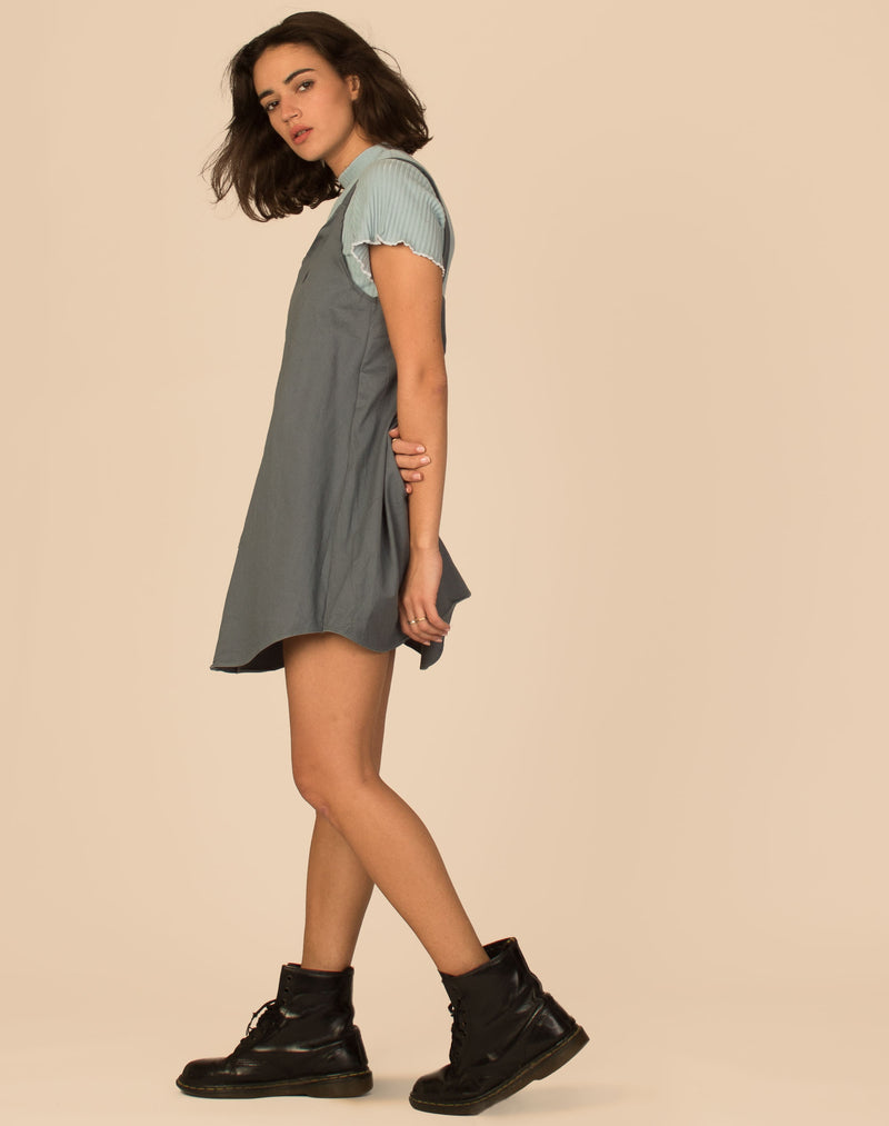 RALPH TEAL OLLIE SLIP DRESS