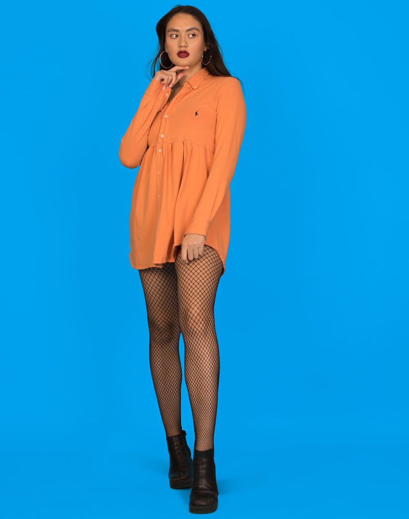 RALPH ORANGE ROXY SMOCK DRESS