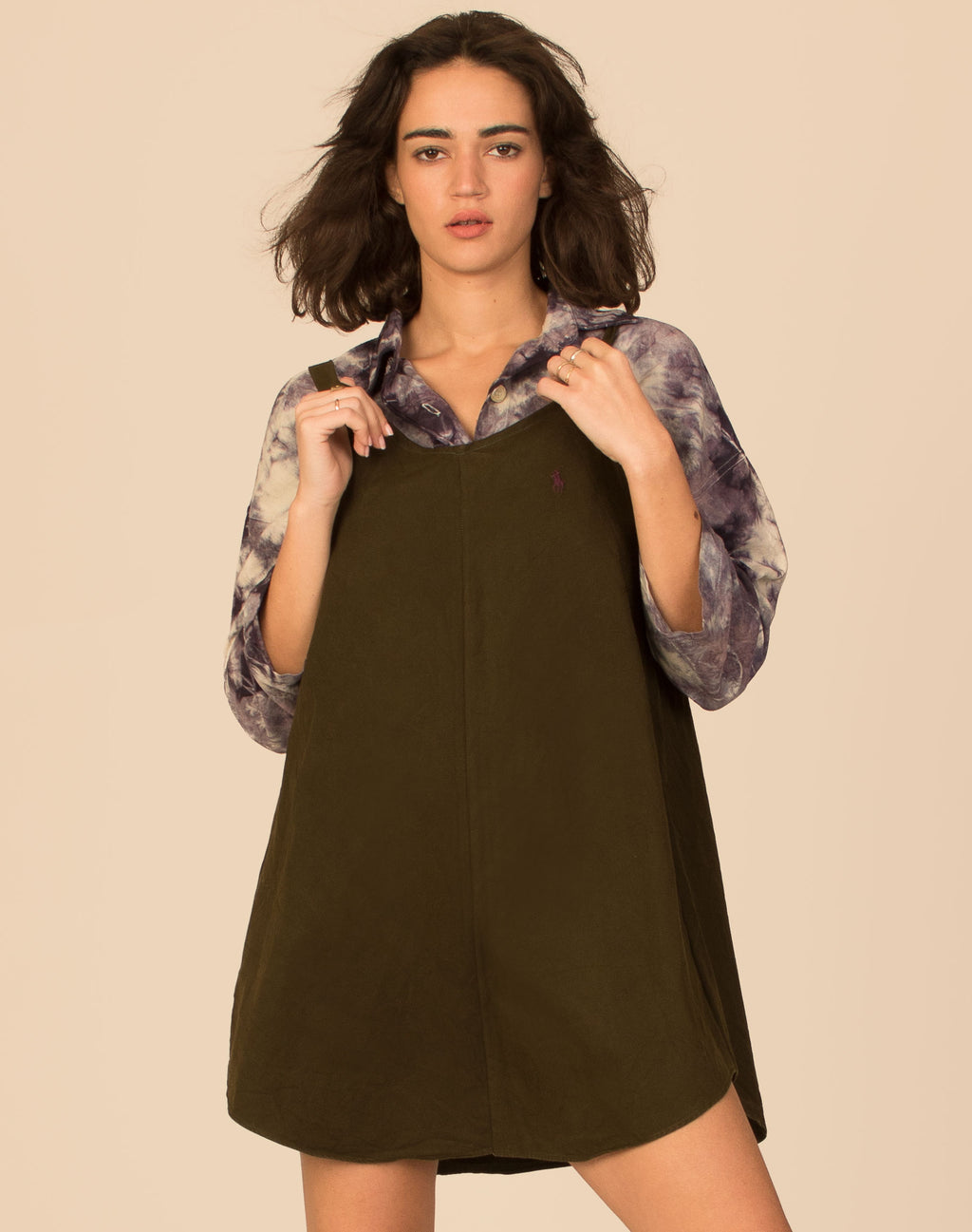 RALPH DEEP KHAKI OLLIE SLIP DRESS