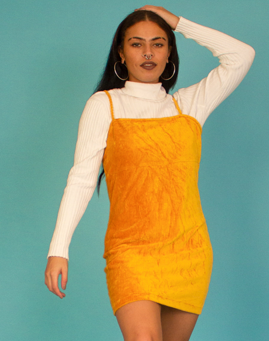 YELLOW CORD DRESS