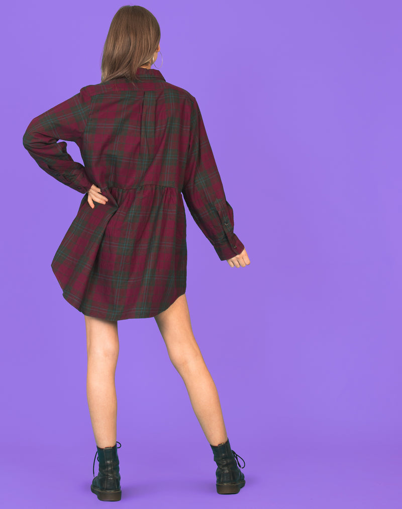RALPH DEEP TARTAN ROXY SMOCK DRESS