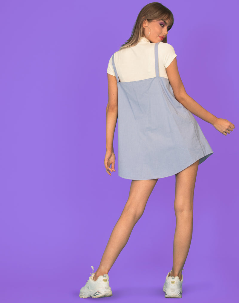 RALPH BABY BLUE CHECK OLLIE DRESS