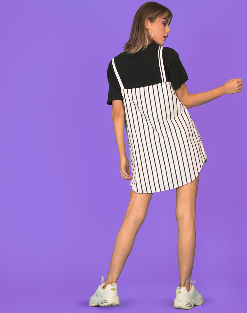 RALPH MONOCHROME STRIPE OLLIE DRESS