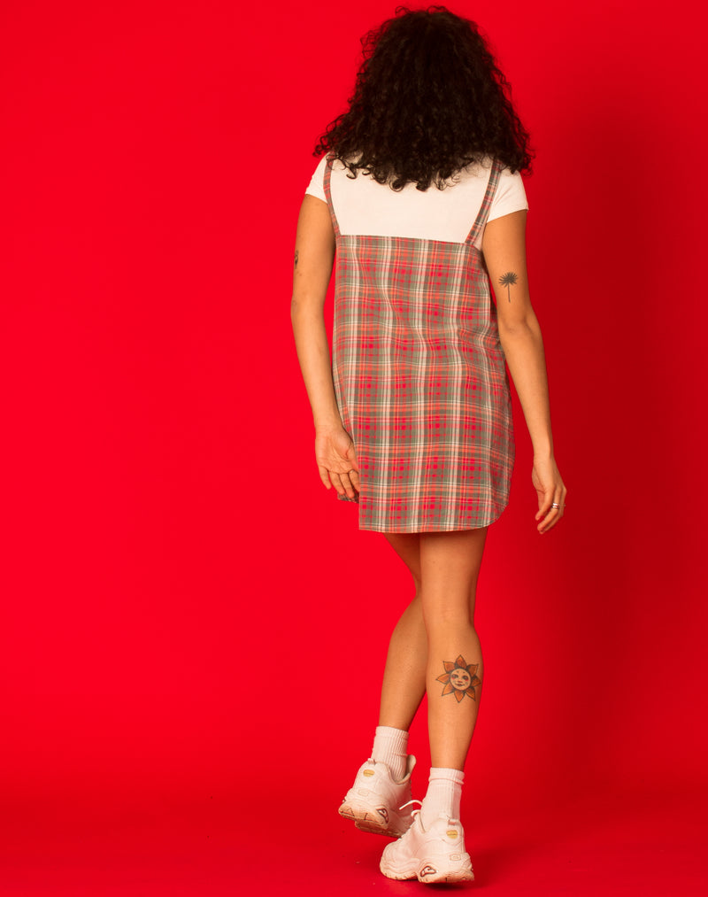 RALPH MUTED RED CHECK OLLIE DRESS