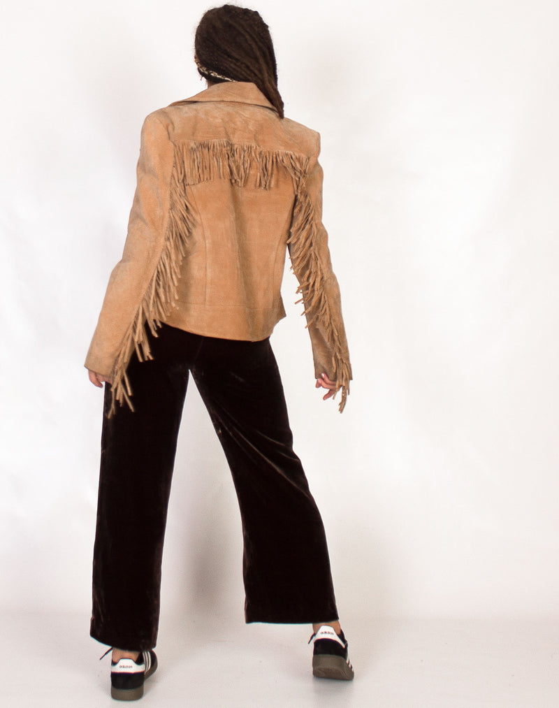 TAN SUEDE FRINGE JACKET