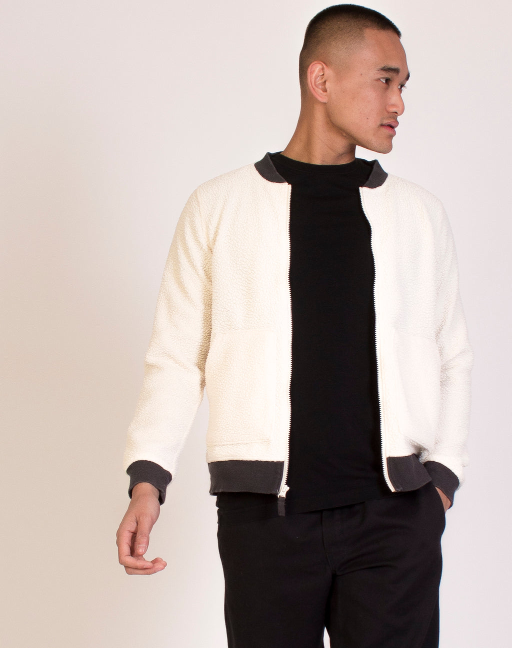 COLUMBIA WHITE BORG BOMBER JACKET