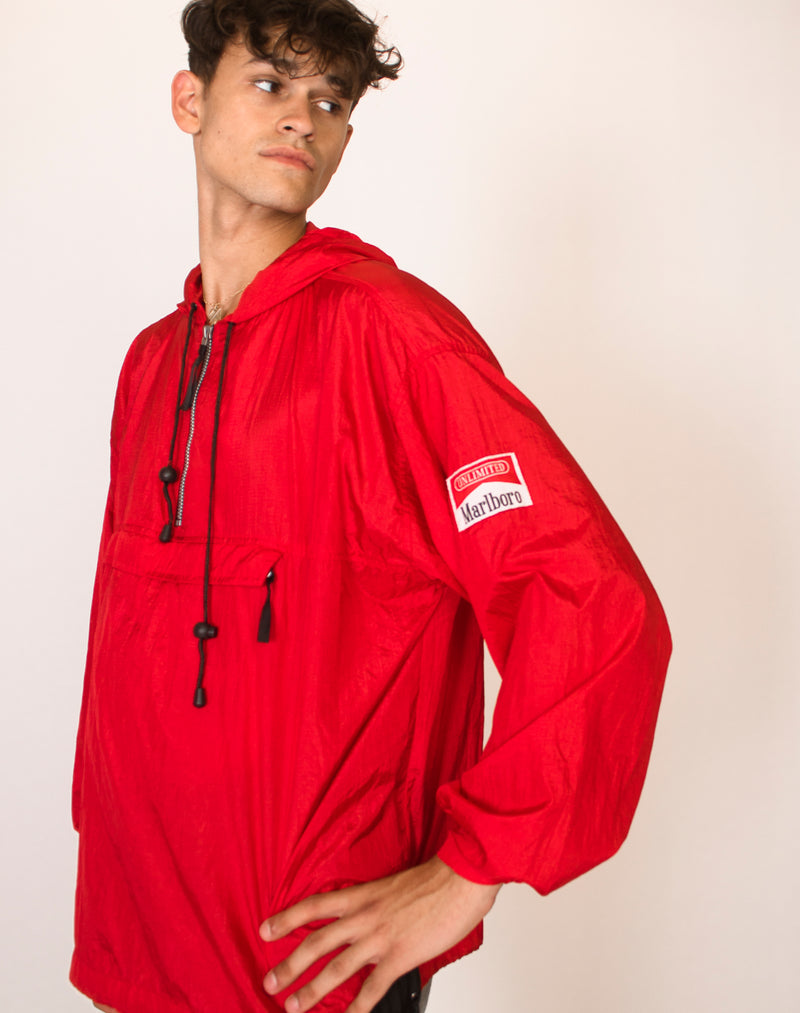 MARLBORO RED PULLOVER WINDBREAKER