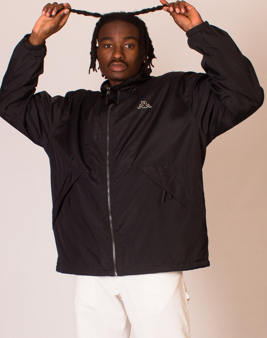 KAPPA REVERSIBLE BLACK JACKET