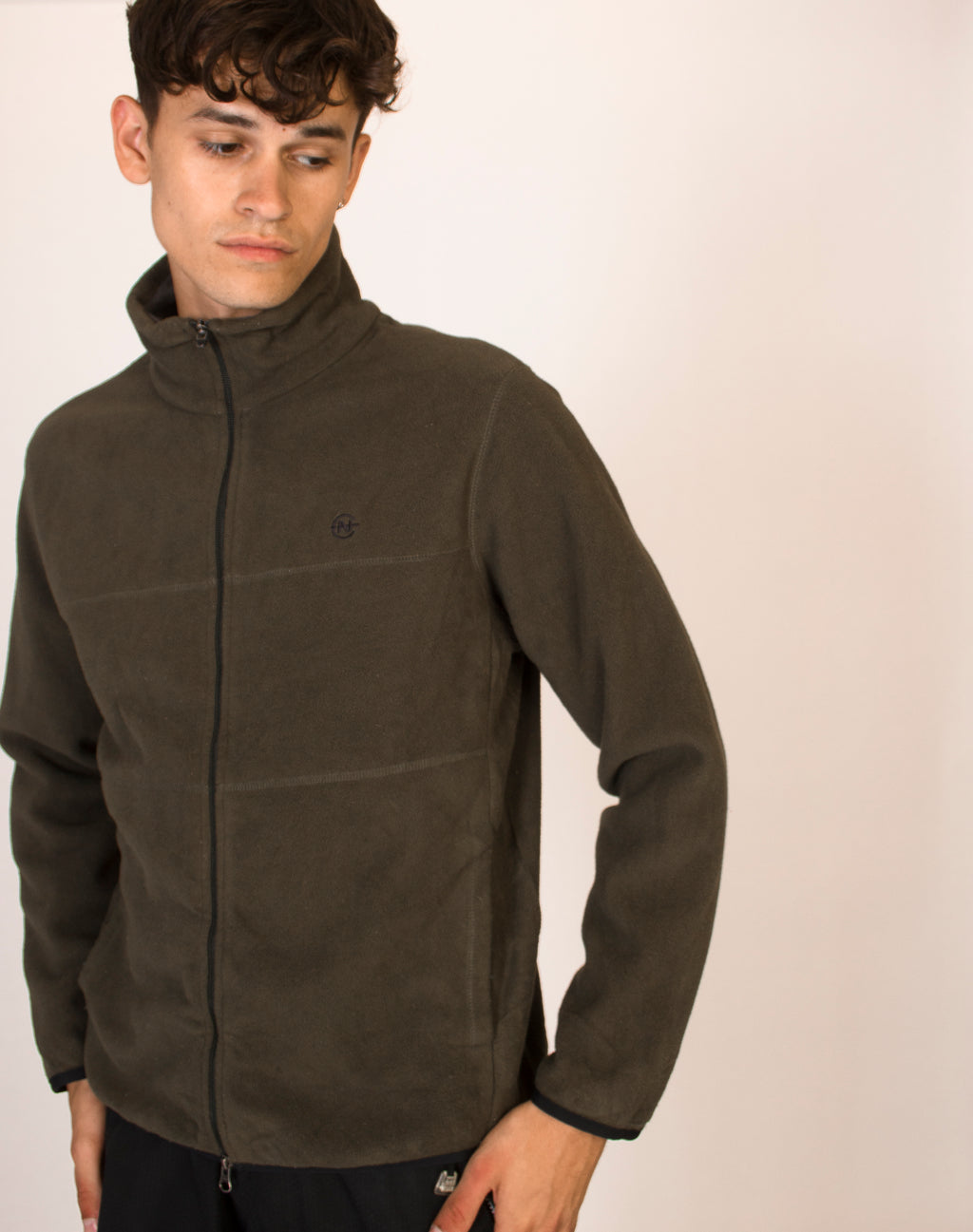 NAUTICA KHAKI ZIP DOWN FLEECE