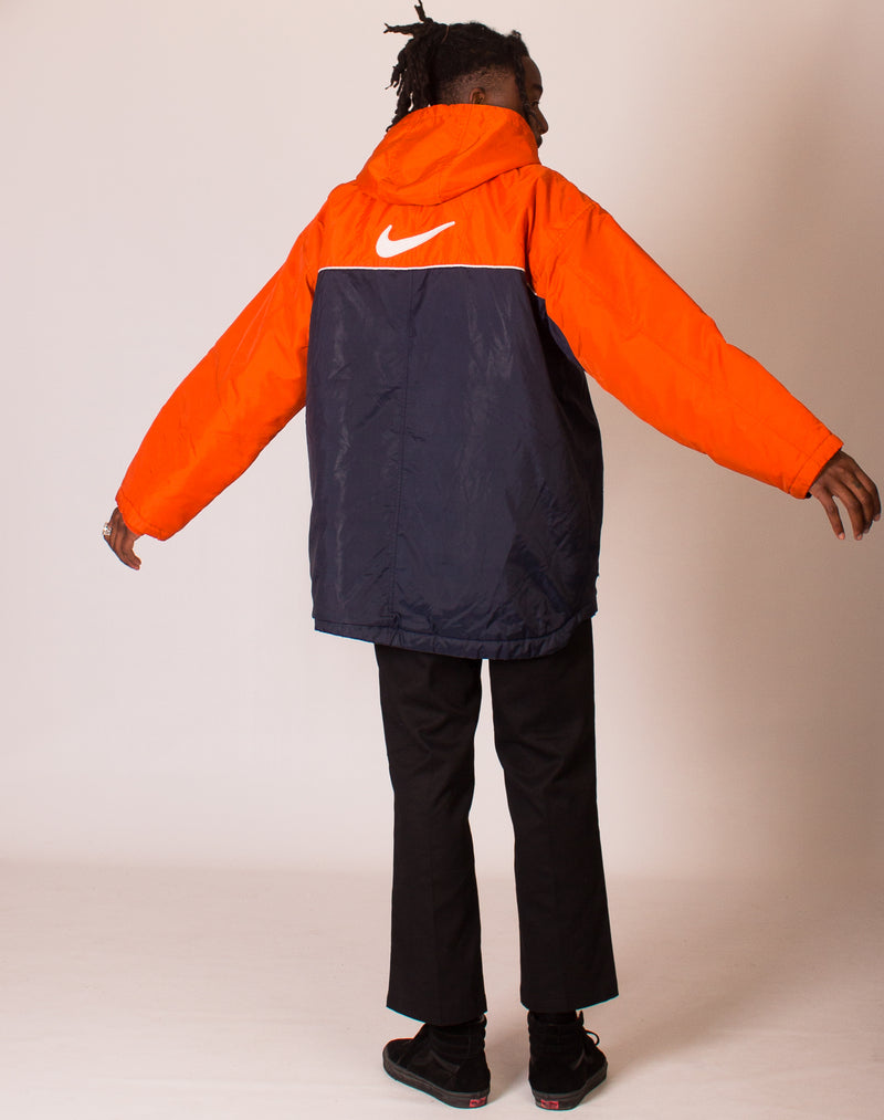 NIKE ORANGE AND NAVY COAT