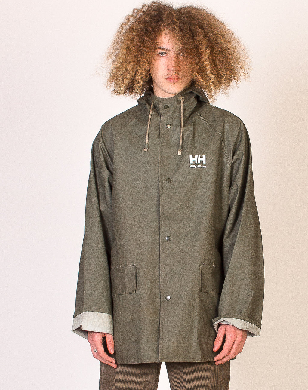 HELLY HANSEN GREEN WATERPROOF RAIN COAT