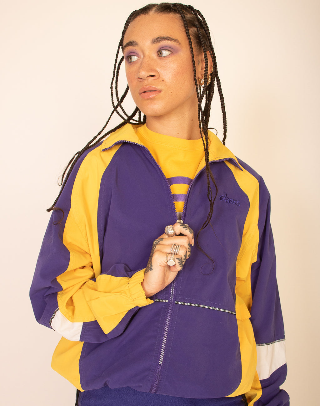 ASICS PURPLE TRACK JACKET